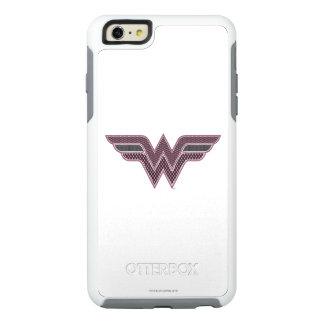Wonder Woman Pink and Black Checker Mesh Logo OtterBox iPhone 6/6s Plus Case