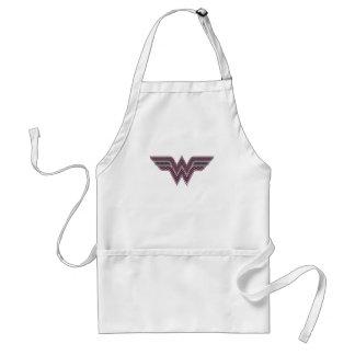 Wonder Woman Pink and Black Checker Mesh Logo Standard Apron