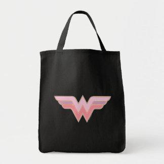 Wonder Woman Pink and Orange Mesh Logo