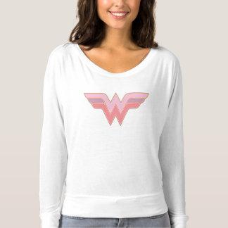 Wonder Woman Pink and Orange Mesh Logo T-shirt