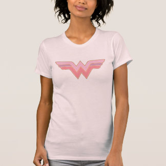 Wonder Woman Pink and Orange Mesh Logo T-Shirt