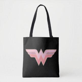 Wonder Woman Pink and Orange Mesh Logo Tote Bag