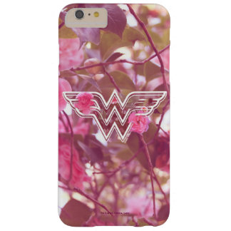Wonder Woman Pink Camellia Flowers Logo Barely There iPhone 6 Plus Case