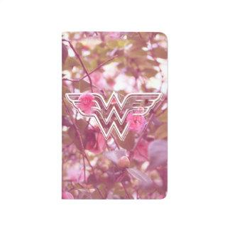 Wonder Woman Pink Camellia Flowers Logo Journal