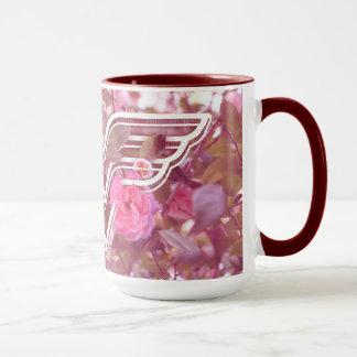 Wonder Woman Pink Camellia Flowers Logo Mug