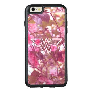 Wonder Woman Pink Camellia Flowers Logo OtterBox iPhone 6/6s Plus Case