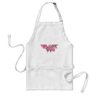 Wonder Woman Pink Camellia Flowers Logo Standard Apron