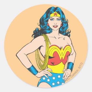 Wonder Woman Portrait Round Sticker