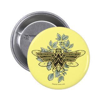 Wonder Woman Queen Bee Logo 2 Inch Round Button