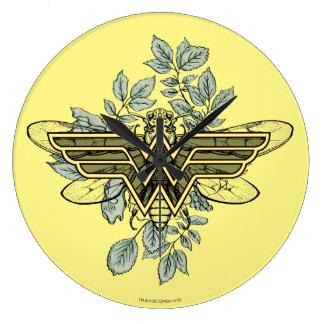 Wonder Woman Queen Bee Logo Clocks