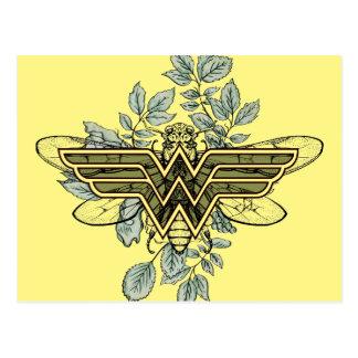Wonder Woman Queen Bee Logo Postcard