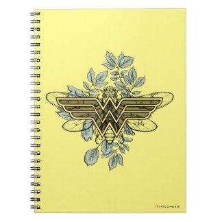 Wonder Woman Queen Bee Logo Spiral Notebooks