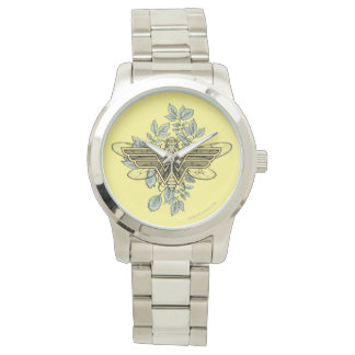 Wonder Woman Queen Bee Logo Watch