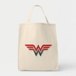 Wonder Woman Red Blue Gradient Logo