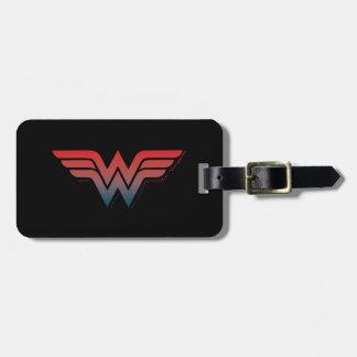 Wonder Woman Red Blue Gradient Logo Luggage Tag
