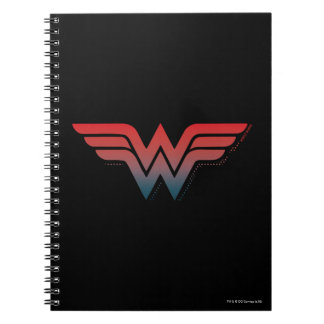 Wonder Woman Red Blue Gradient Logo Notebooks