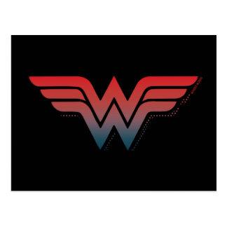 Wonder Woman Red Blue Gradient Logo Postcard