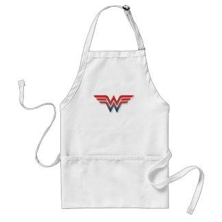 Wonder Woman Red Blue Gradient Logo Standard Apron