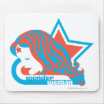 Wonder Woman Red & Blue Star Mouse Pads