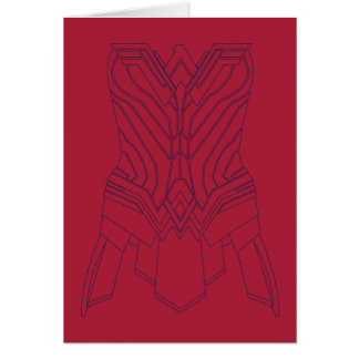 Wonder Woman Red & Navy Armor Outline Card