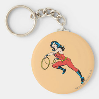 Wonder Woman Red Outfit Basic Round Button Keychain