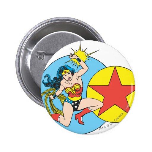 Wonder Woman Red Star Buttons