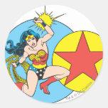Wonder Woman Red Star Round Sticker