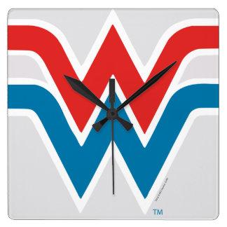 Wonder Woman Red White and Blue Logo Clocks