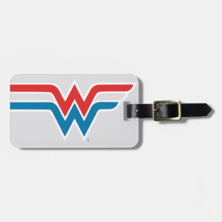 Wonder Woman Red White and Blue Logo Luggage Tag