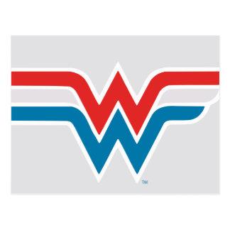 Wonder Woman Red White and Blue Logo Postcard
