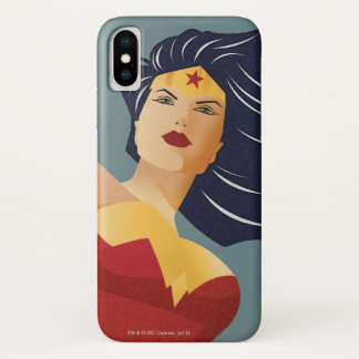 Wonder Woman Retro City Sunburst iPhone X Case