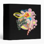 Wonder Woman Retro Flowers Vinyl Binder