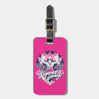 Wonder Woman Retro Glam Rock Graphic Luggage Tag