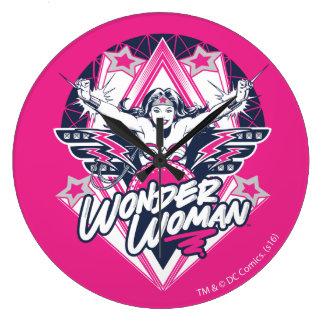 Wonder Woman Retro Glam Rock Graphic Wallclock