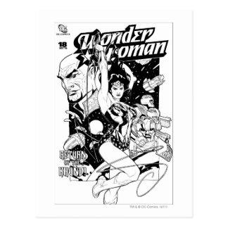 Wonder Woman Return of the Khundi B&W Postcard