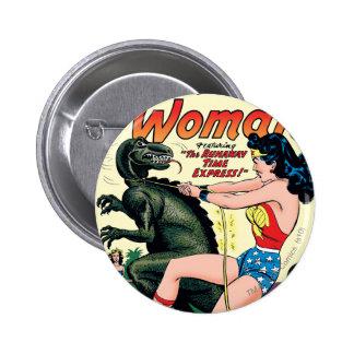 Wonder Woman Runaway Time Express 2 Inch Round Button