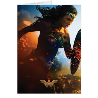 Wonder Woman Running on Battlefield Card
