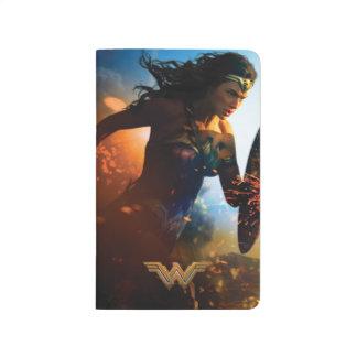 Wonder Woman Running on Battlefield Journal