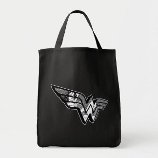 Wonder Woman Sitting In Angled Lace Logo