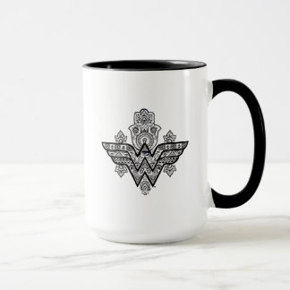 Wonder Woman Spiritual Paisley Hamsa Logo Mug