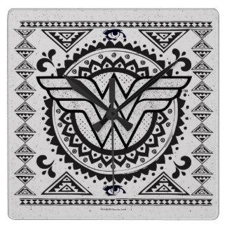 Wonder Woman Spiritual Tribal Design Clock