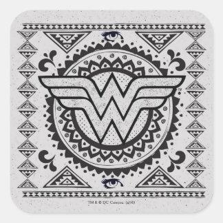 Wonder Woman Spiritual Tribal Design Square Sticker