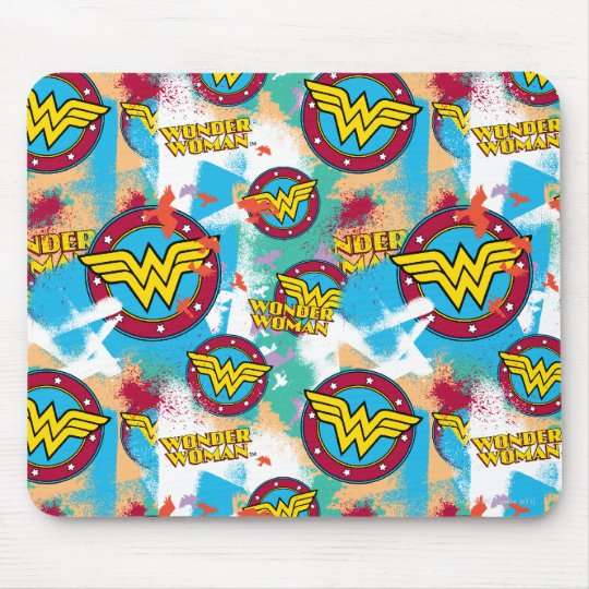 Wonder Woman Spray Paint Pattern Mouse Pad