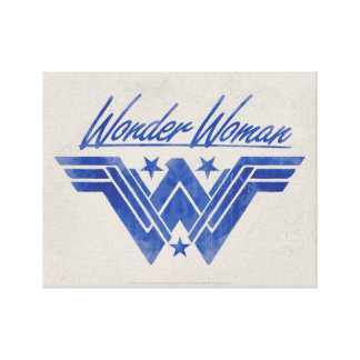 Wonder Woman Stacked Stars Symbol Canvas Print