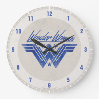 Wonder Woman Stacked Stars Symbol Clock