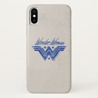 Wonder Woman Stacked Stars Symbol iPhone X Case