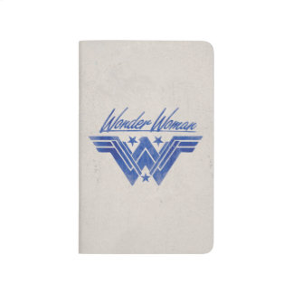Wonder Woman Stacked Stars Symbol Journal