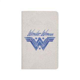 Wonder Woman Stacked Stars Symbol Journal