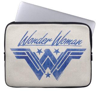 Wonder Woman Stacked Stars Symbol Laptop Sleeve