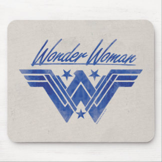 Wonder Woman Stacked Stars Symbol Mouse Pad